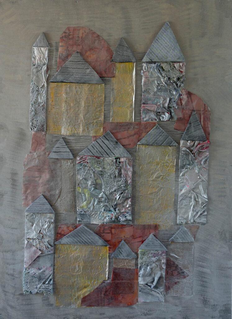 Lucie Plaschka, Verstummter Ort, 140 x 100, Mischtechnik, 2020