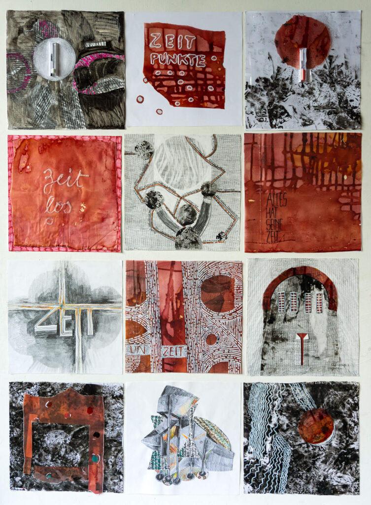 Lucie Plaschka, Zeiten, 140 x 100, Papierarbeit 2019