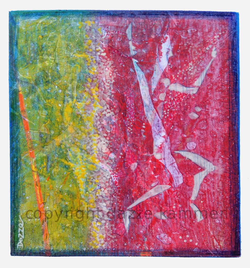 Dazze Kammerl, Mischtechnik auf Papier-32-x-25 cm, Ohne Titel 3