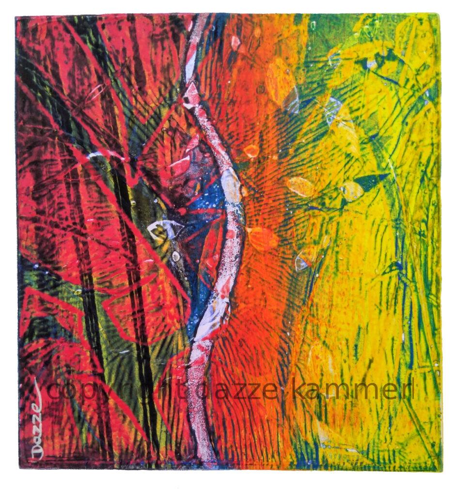 Dazze Kammerl, Mischtechnik auf Papier, 32 x 25 cm, Ohne Titel
