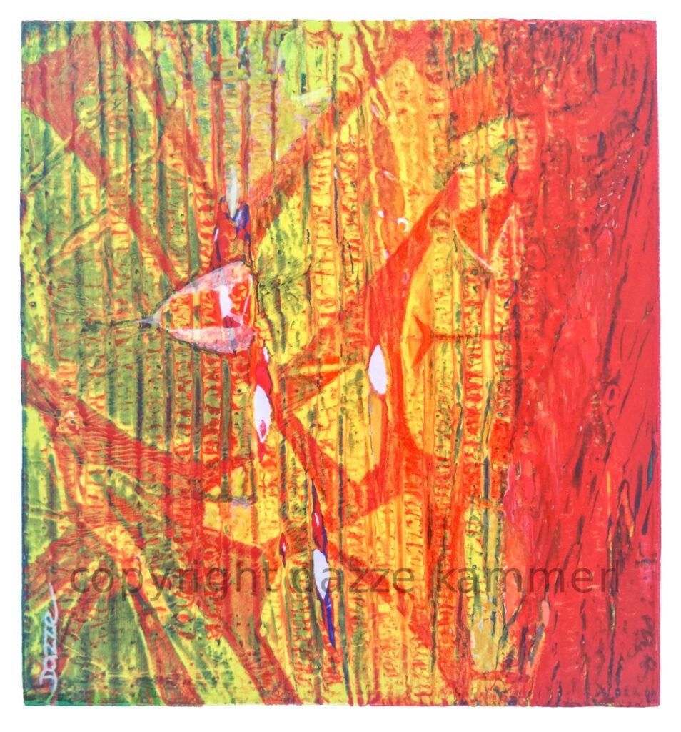 Dazze Kammerl, Mischtechnik auf Papier, 32 x 25 cm, Ohne Titel 2, 2019