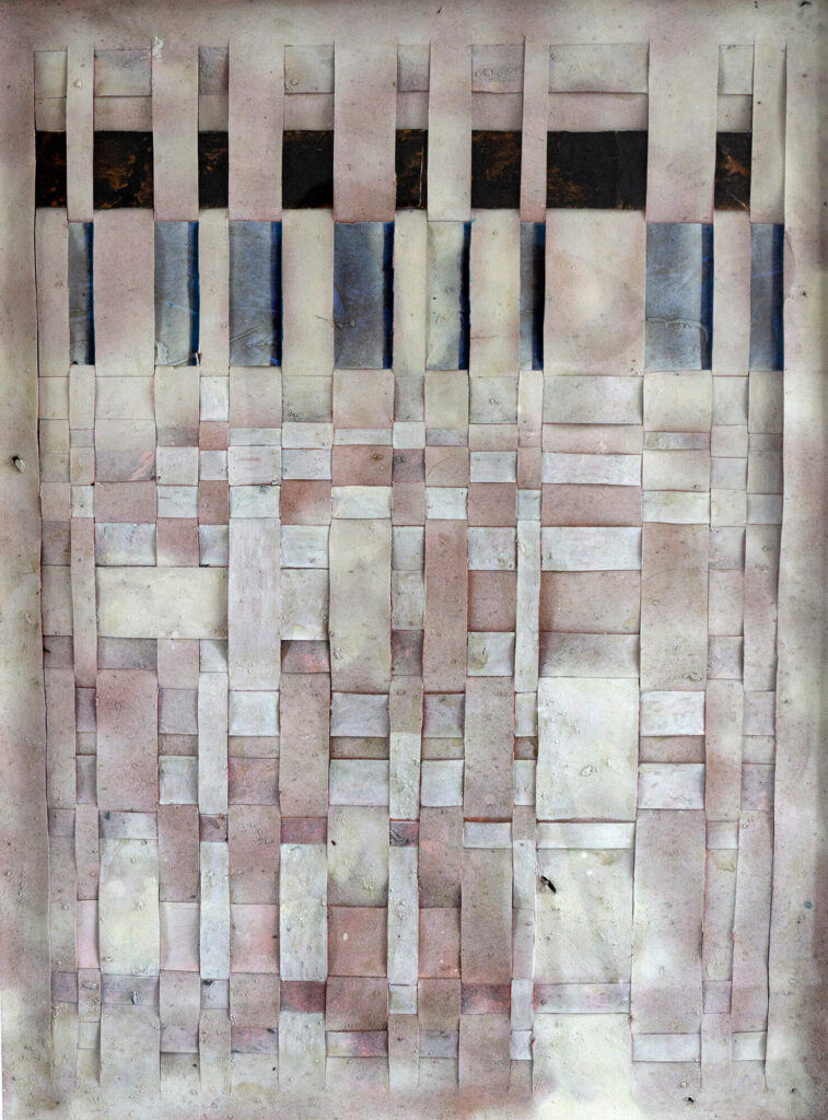Lucie PLaschka, Verflochten, 80 x 60, Papierarbeit, 2015